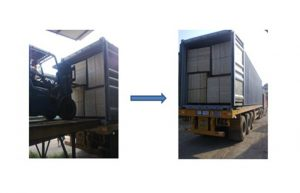 plywood loading process