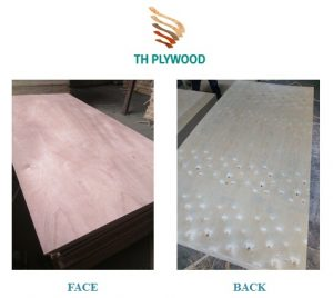 plywood face back ab red
